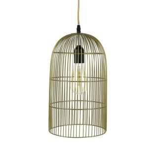 Suspension luminaire en métal filaire Cage - Diam. 20 cm - Doré