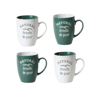 4 Mug Litlle Market - 250 ml - Vert foncé