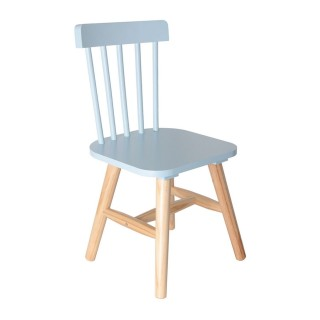 Chaise enfant en bois Moon - Bleu
