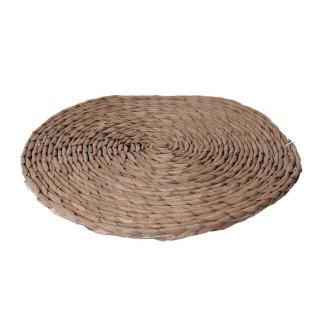 Set de table rond tressé Bord de mer - Diam. 38 cm - Marron naturel