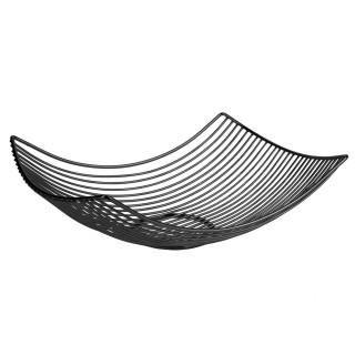 Corbeille à fruits en métal filaire India - Noir