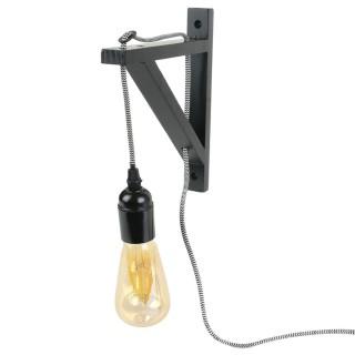 Applique luminaire indus Kloé - H. 22,5 cm - Noir