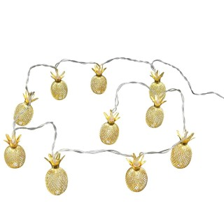 Guirlande lumineuse Ananas - L. 165 cm - Doré