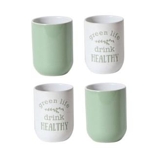 4 Tasses à expresso Little Market - Vert d'eau