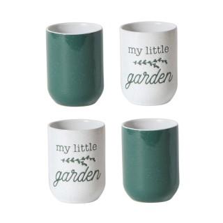 4 Tasses à expresso Little Market - Vert foncé