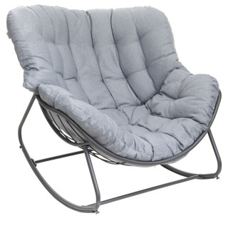 Rocking chair de jardin Paopao - Gris graphite