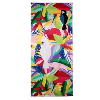 Serviette de plage Exotique - L. 70 x l. 150 cm - Blanc