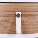 Table de chevet scandinave Nora - Diam. 35 x H. 45 cm - Blanc
