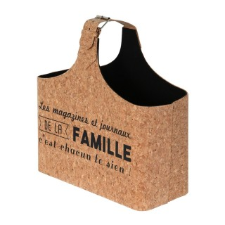 Panier range magazine en liège Famille - Marron