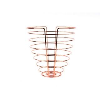 Corbeille à fruits en métal filaire Linea - Couleur cuivre