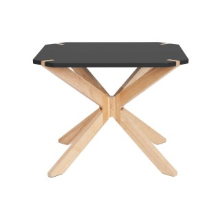 Table basse scandinave Miste - L. 60 x H. 40 cm - Noir