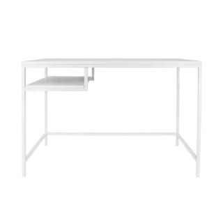 Bureau en métal industriel Fushion - L. 114 x H. 76 cm - Blanc