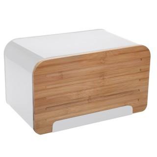 Boîte à pain en métal Lay Up - L. 35 x H. 21 cm - Blanc