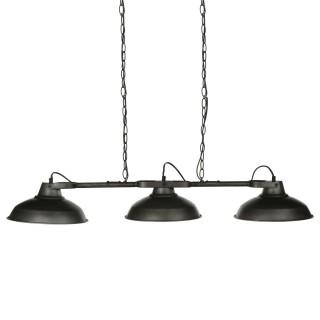 Suspension luminaire industrielle Sorn - L. 107 x H. 65 cm - Noir