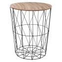 Table à café filaire Kumi - Diam. 47 cm - Noir
