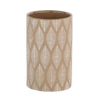 Gobelet de salle de bain design Tupian - Céramique - Beige