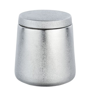 Pot de rangement salle de bain design Glimma - Argent