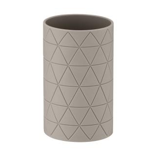 Gobelet de salle de bain design Casella - Taupe