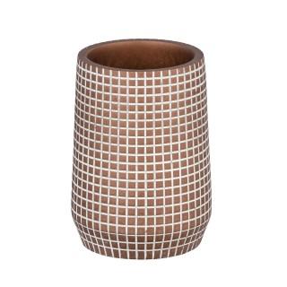 Gobelet de salle de bain design Ohrid - Marron bronze