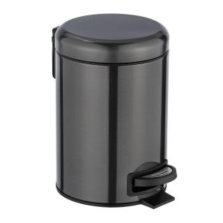 Poubelle à pédale indus Leman - 3 L - Noir
