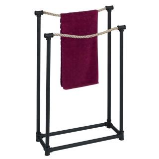 Porte-serviette indus Osuna - L. 50 x H. 85 cm - Noir