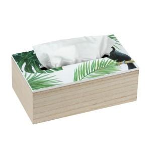 Boîte à mouchoirs tropicale Tucan - Vert