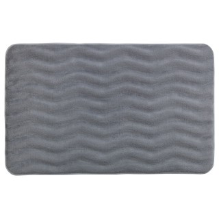 Tapis de salle de bain Wave - Mémoire de forme - Gris clair