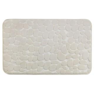 Tapis de salle de bain Pebbles - Mémoire de forme - Beige