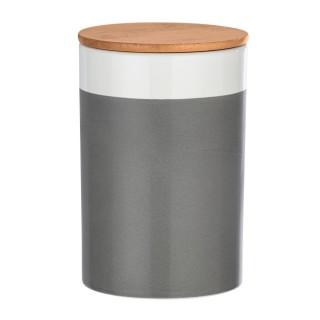 Boîte de conservation aliment design Malta - 1,45 L - Gris et blanc