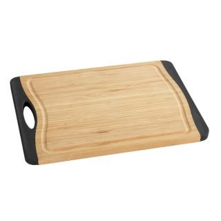 Planche à découper antidérapante Bambou - L. 28 x l. 20 cm - Noir