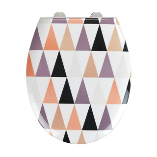Abattant WC design Pyramide - Abaissement automatique - Duroplast - Blanc