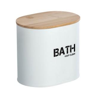 Boîte de rangement salle de bain Gara - L. 14 x H. 13 cm - Blanc