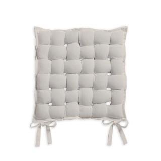 Galette de chaise Tressée - 40 x 40 cm - Ivoire