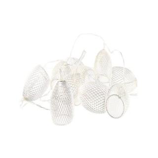 Guirlande lumineuse en métal 10 LED Cage - L. 175 cm - Argent