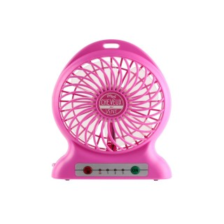 Ventilateur portable rechargeable - Rose