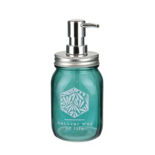 Distributeur de savon exotique Jungle - Vert bleu