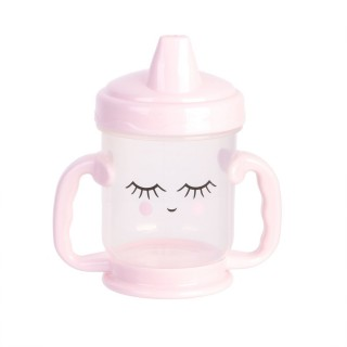 Tasse de transition avec bec Baby - Anti fuite - 210 ml - Rose