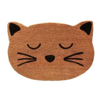 Paillasson tête de Chat - L. 60 x l. 40 cm - Beige