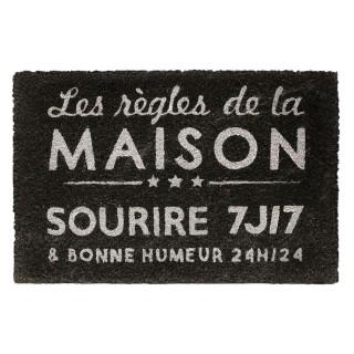 Paillasson Maison - L. 60 x l. 40 cm - Noir