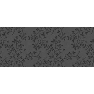 Adhésif décoratif pour meuble imprimé Fleurs - 200 x 45 cm - Gris