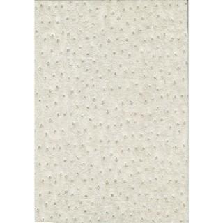Adhésif décoratif pour meuble effet Cuir - 200 x 45 cm - Blanc ecru