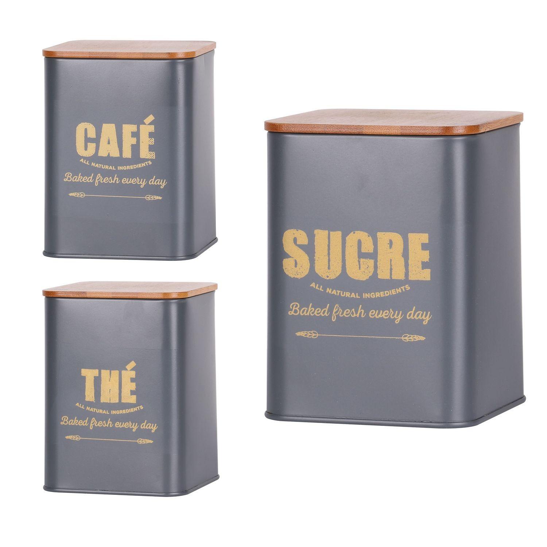 5 piece set de boîte métallique boîte à Pain Sucre Thé Café Biscuits tin par réduction de la maison