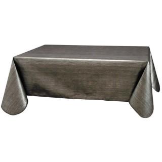 Nappe en toile cirée rectangulaire design Métal - L. 140 x l. 240 cm - Noir