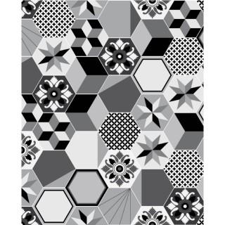 Crédence adhésive carreaux en aluminium Exa - L. 70 x l. 60 cm - Gris