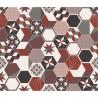 Crédence adhésive carreaux en aluminium Exa - L. 70 x l. 40 cm - Rouge