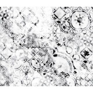 Crédence adhésive en alu imitation Marbre - L. 70 x l. 40 cm - Blanc