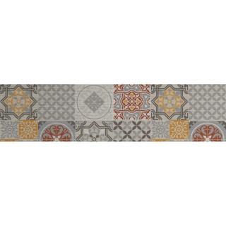Crédence adhésive en aluminium Carreaux - L. 20 x l. 90 cm - Gris