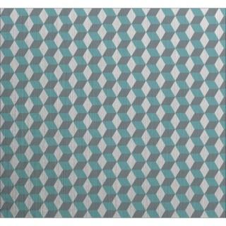 Crédence adhésive en alu Cube - L. 70 x l. 60 cm - Gris