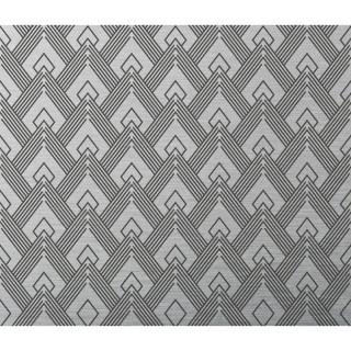 Crédence adhésive en aluminium Art déco - L. 70 x l. 60 cm - Noir