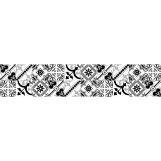 Crédence adhésive design en PVC Milan - L. 200 x l. 40 cm - Noir